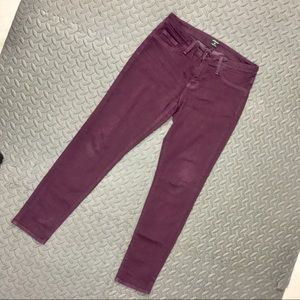 JUST BACK sz 29 maroon skinny pants